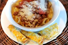 Pasta all Marlboro Man. The simplest meat sauce you can imagine...but that's exactly the way my love likes it.