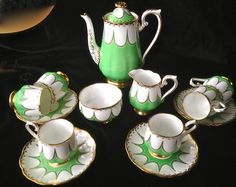 Stunning Vintage Royal Albert 15 Piece Coffee Set 2 Pieces A F   eBay