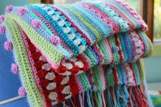 crochet blankets, baby afghans, balls, crochet afghans, pattern, color combos, stripey blanket, crocheted blankets, baby blankets