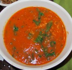 Spicy Tomato Kale Soup