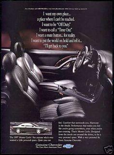 Chevy Monte Carlo ad.