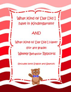"FREE LESSON - ""Behavior Reports in English and Spanish"" - Go to The Best of Teacher Entrepreneurs for this and hundreds of free lessons. Pre-Kindergarten - 2nd Grade   #FreeLesson  #TeachersPayTeachers   #TPT  http://www.thebestofteacherentrepreneurs.net/2013/10/free-misc-lesson-behavior-reports-in.html"