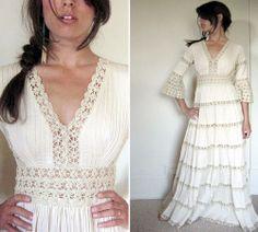 Super fab 70s Mexican wedding dress