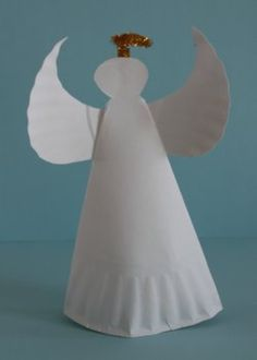 ccd christmas craft simple paper plate angel i like the gold pipe