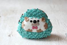 DIY Hedgehog Coin Purse - FREE Sewing Pattern and Tutorial