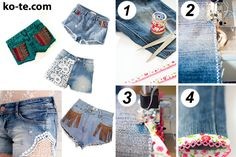 How to cut jeans and decorate shorts