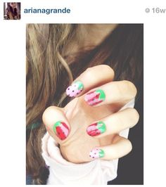 Ariana Grande nails from Instagram