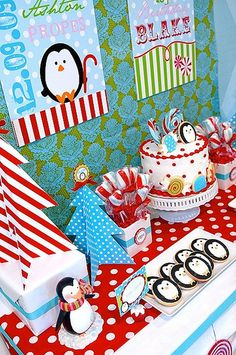 Penguin Party via Kara's Party Ideas