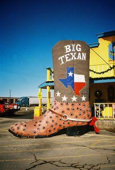 Big Texan Cowboy Boot at the Big Texan Steak Ranch, December 2009