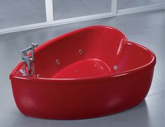 heart shaped acrylic tub... sweet or too precious?