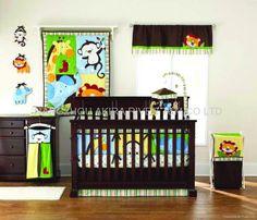 Jungle theme nursery.