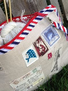 Special Delivery - knitting pouch by Trilliumdesign ~ Caroline, via Flickr