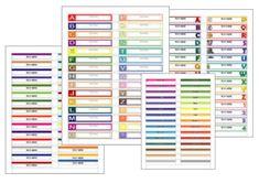 Free file folder labels