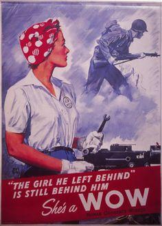 World War II WOW poster.