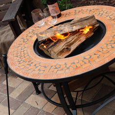 Have to have it. Spanish Sun Terra Cotta Mosaic Round Fire Pit $249.99