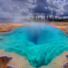 The Deep Blue Hole In Yellowstone, which can be different colors.