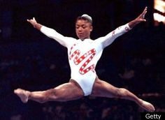 """Dominique Dawes - US Olympic Team Member '92, '96, '00 - 3 team medals (1 gold, 2 bronze) & an individual bronze medal on the Floor Exercise.  I was obsessed with """"Awesome Dawesome"""" in hte '90s - she's the originator!"""