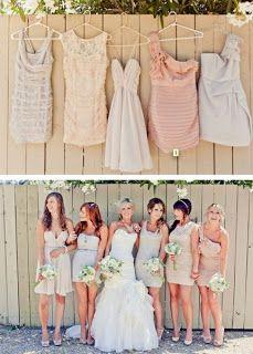 Rustic Country Wedding Ideas: Casual Summer bridesmaids attire