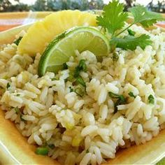 brown rice, rice recipes, side dishes, almonds, butter, lime rice, pineapplelim rice, pineappl lime, rice allrecipescom