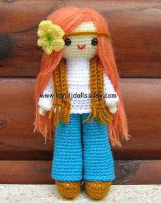 Hippie Daisy, amigurumi crochet pattern by K and J Dolls, via Flickr