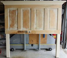 Queen Size Old Door Headboard - Made on the Light Side