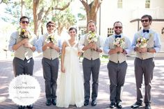 Silly picture - Groomsmen with Bouquets