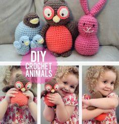 Crochet Animal Friends animal patterns, anim pattern, crochet toy, crochetanim, crocheted animals, crochet animals, crochet patterns, amigurumi, owl patterns