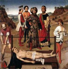 small intestin, dieric bouts, sterasmus, gothic flemish, gothic art