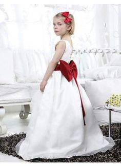 Lovely Ball Gown Scoop Floor-length Organza Satin Flower Girl Dress. From Cd Dress  www.cddress.com    Please mention that you found them thru Jevel Wedding Planning's Pinterest Account.  Keywords: #flowergirldresses #jevelweddingplanning Follow Us: www.jevelweddingplanning.com  www.facebook.com/jevelweddingplanning/