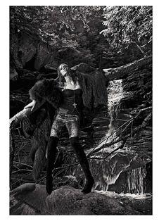 . white photo, black