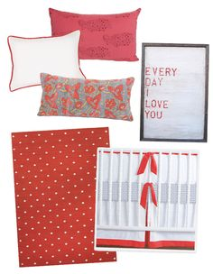 Red Pillows, Artwork and Accents for Nursery