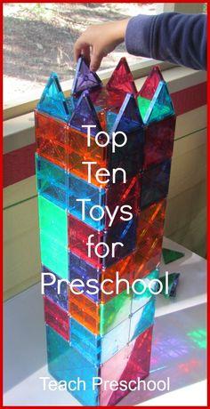 Top Ten Toys for Preschool by Teach Preschool