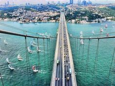 The bridge that connects Asia to Europe at Istanbul, Turkey