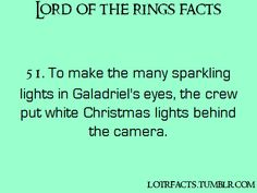 I don't really like Lord of the Rings but I do like these cool facts!!!