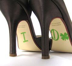 I Do Shoe Stickers with Shamrock for Irish Weddings on Etsy, $9.95