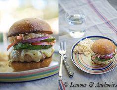 Chipotle Turkey Burger with Southwestern Slaw | http://lemonsandanchovies.com