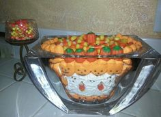 Halloween candy dish - peeps & candy corn. By ICR84U 2013.