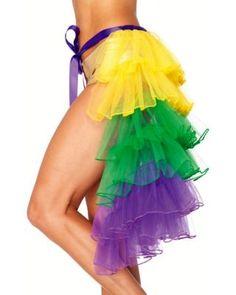 Mardi Gras Multicolor Adult Tutu  Product #: WC1A2017 skirts, organza bustl, accessori, adult costumes, layer organza, gras costum, bustl skirt, gras organza, mardi gras