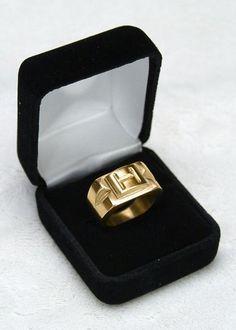 Monogram mens ring