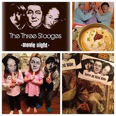 famili fun, comedy, parti movi, parties, the three stooges, movie nights, parti idea, movi parti, crafts