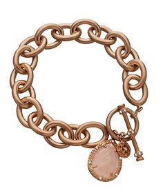 Rose Toggle Charm Bracelet