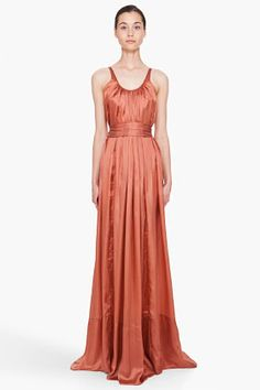 RICK OWENS Rusted Coral Beach Dress