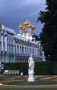 Catherine's Palace, Tsarkoe Selo, Pushkin, St Petersburg, Russia