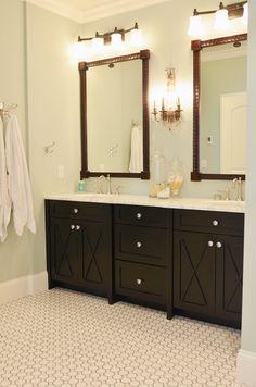 Love the flooring in Edie's master bathroom (Life in Grace blog).