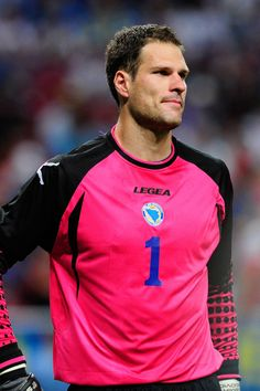 Asmir Begović, Bosnia and Herzegovina There are countless reasons why we'd want to score on this goalie...  http://www.elle.com/pop-culture/celebrities/sexy-soccer-football-players-world-cup-brazil