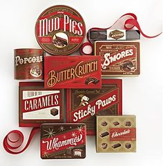The exquisite packaging created by Williams-Sonoma in-house design department.