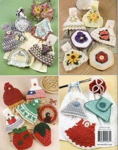 Crochet Patterns Towel Toppers Kitchen or Bath 28 Designs Annie's ...