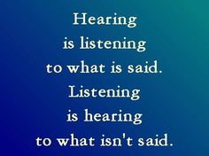 hearing and listening