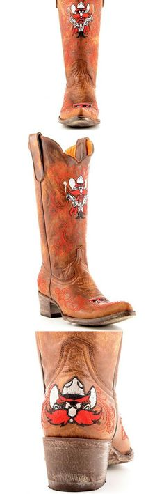 Texas Tech University Red Raiders - distressed pointed toe cowboy / cowgirl boots with logo
