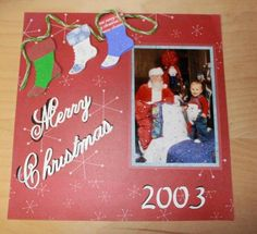 galleries, card idea, scrapbook christma, cricut challeng, christma scrapbook, scrapbook layout, merri christma